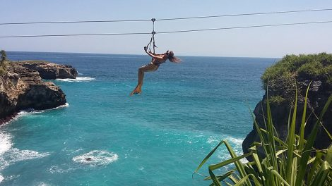 Bali must try activities: Abyss Ziplining on Nusa Ceningan